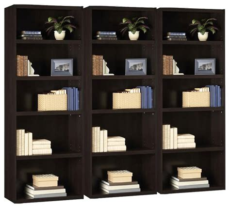 ameriwood russet 5 shelf bookcase ameriwood 5 shelf wood bookcase in russet cherry