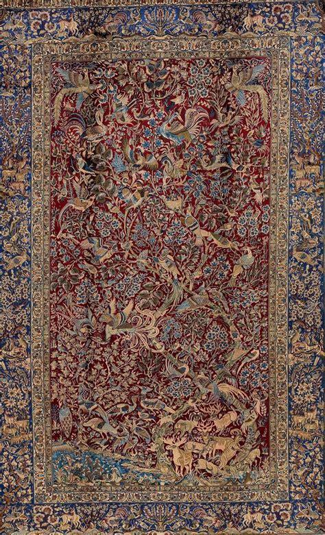 Antique Isfahan Pure Silk Carpet At 1stdibs Rugs Silk