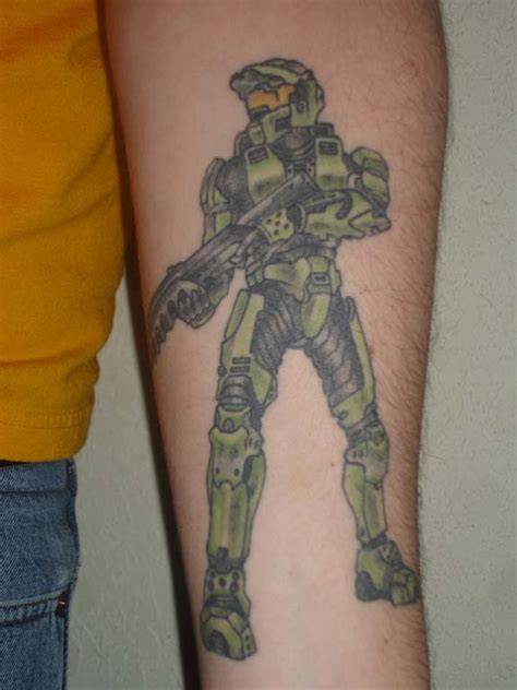 master chief tattoo master chief