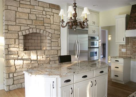 Faux Stone Kitchen Backsplash 29 charming compact kitchen designs designing idea