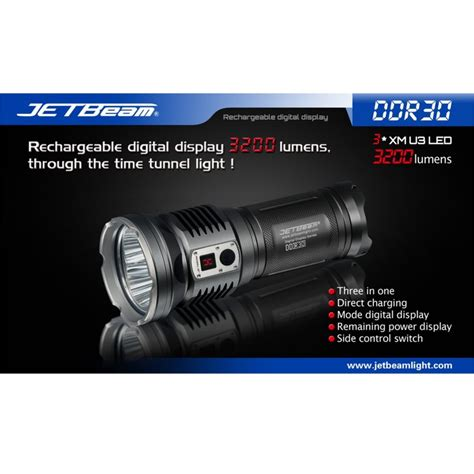 Senter Jetbeam Jetbeam Ddr30 Senter Led Cree Xm L2 3300 Lumens Black Jakartanotebook