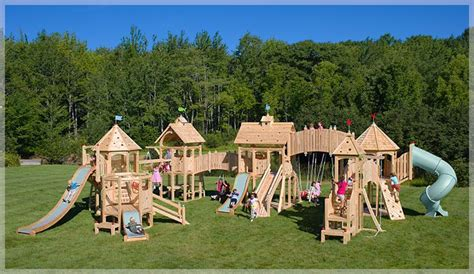 castle swing set plans kids playset plans pdf woodworking