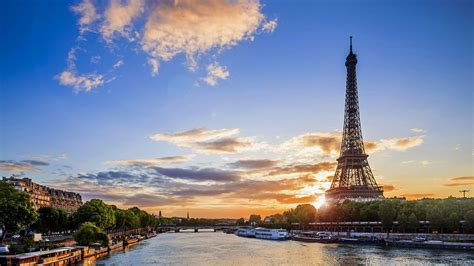 themes for windows 7 paris eiffel tower view from seine river paris france