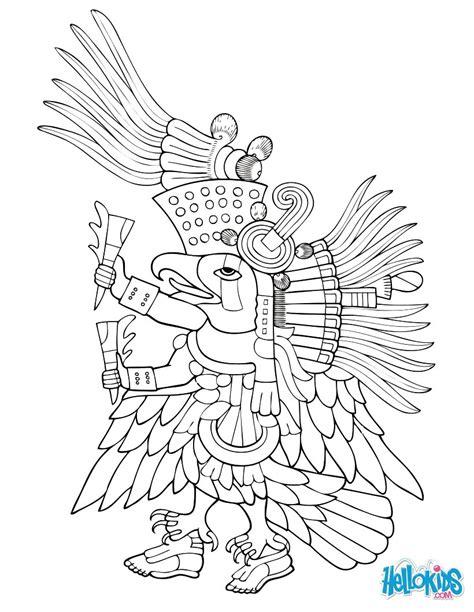 quetzalcoatl coloring page ehecatl coloring pages hellokids com