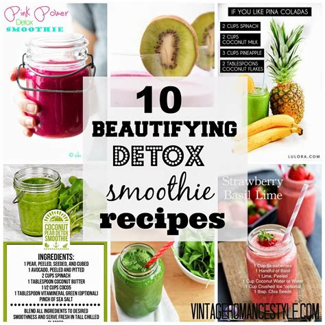 Detox Recipes For Mothers by 10 Beautifying Detox Smoothie Recipes