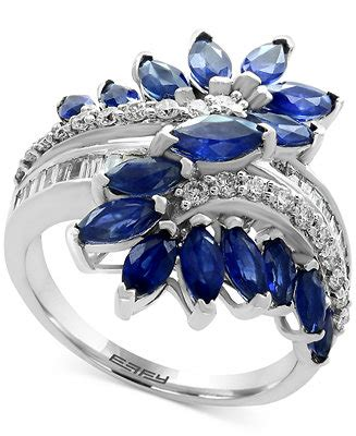 Effy Jewelry Sweepstakes - effy 174 sapphire 3 1 5 ct t w diamond 3 8 ct t w ring in 14k white gold also