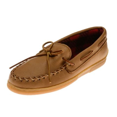 minnetonka moccasins mens slippers minnetonka moccasins 3950 s moosehide moccasin with