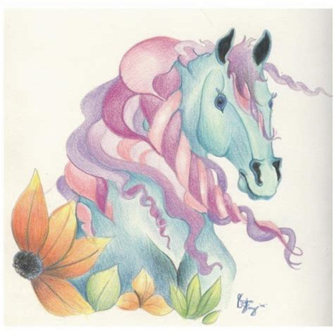 Horse Of A Different Colour Drawing By Kirsten Slaney Colour Drawing
