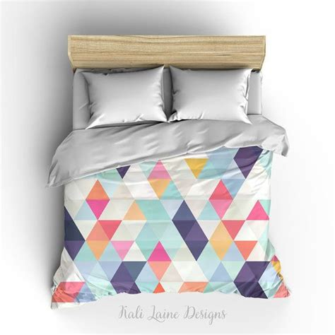 triangle bedding duvet cover colorful triangle geometric comforter