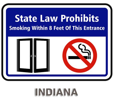 Indiana No Smoking Signs Printable | indiana no smoking sign by safetysign com r5751