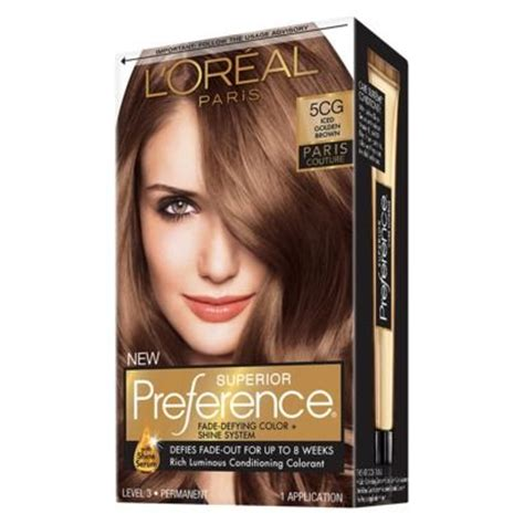 loreal hair color brown hair l oreal preference hair color iced golden brown 5cg hair