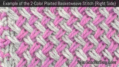 how to knit basket weave stitch how to knit the two color plaited basketweave stitch new