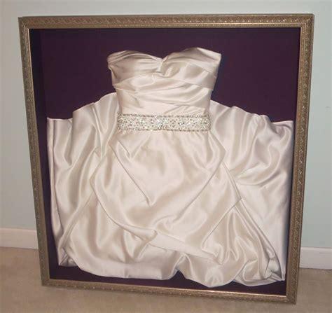hochzeitskleid box frame your wedding dress our front door looking in