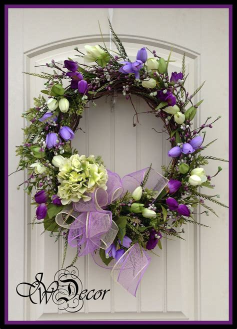 door wreaths for spring spring wreath wreaths spring door wreath purple wreath