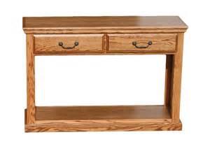 Oak Sofa Tables by Od O T247 Traditional Oak Sofa Table With 2 Drawers Oak