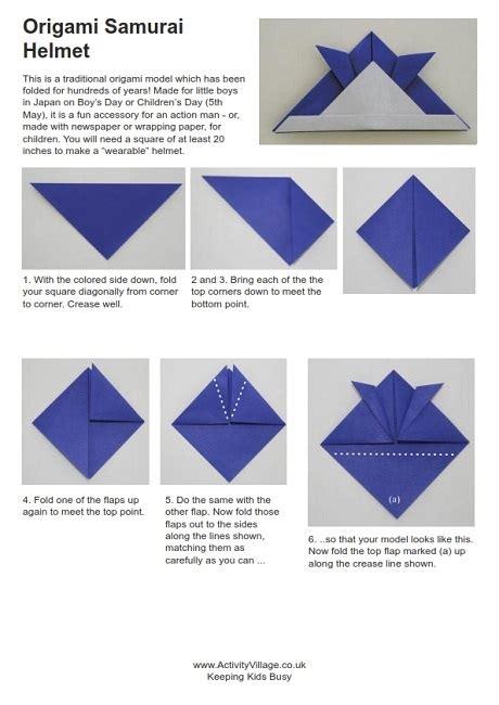 Origami Samurai Hat - kodomo no hi japanese with garrett sensei