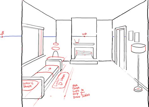 draw a room how to draw a room with perspective drawing tutorial of a