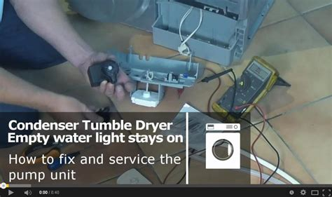 how to service a condenser tumble dryer unit indesit