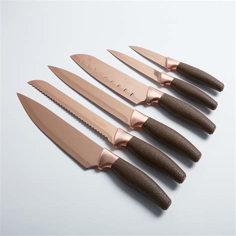 titanium coated knife set 7 new cutlery