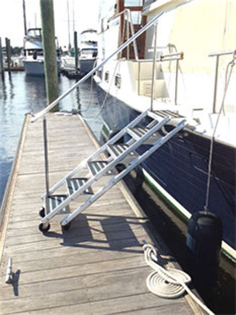 boat boarding stairs yacht stairs yacht boarding stairs new wave fabrication