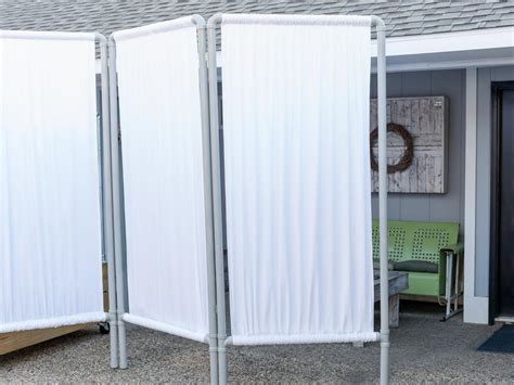 portable privacy curtain how to make an outdoor privacy screen from pvc pipe hgtv
