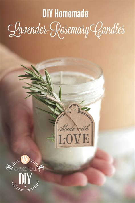 Doterra Rosemary Essential Original diy candles with lavender rosemary scent
