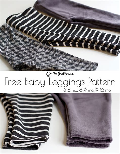 Free Sewing Pattern Baby Leggings | free baby go to leggings pattern andrea s notebook