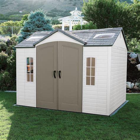 lifetime   outdoor storage shed garden backyard utility tool box patio  ebay