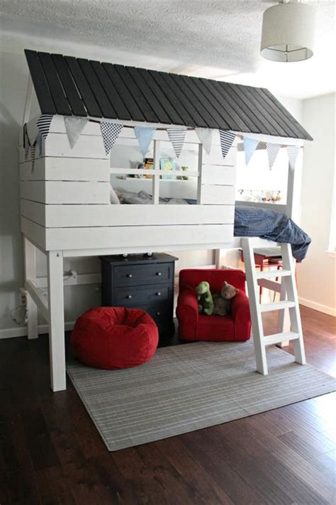 clubhouse bunk bed kids clubhouse loft bed buildsomething com
