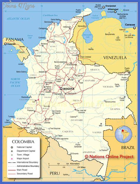 south america map bogota bogota map toursmaps
