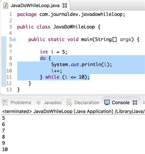 patterns in java using while loop java do while loop journaldev
