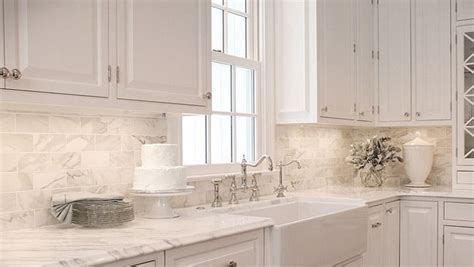 marble subway tile kitchen backsplash trendspotting kitchen designs glam living