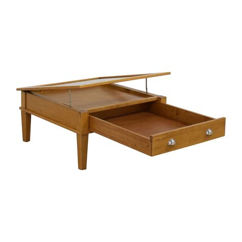 66 wooden shadow box square coffee table tables