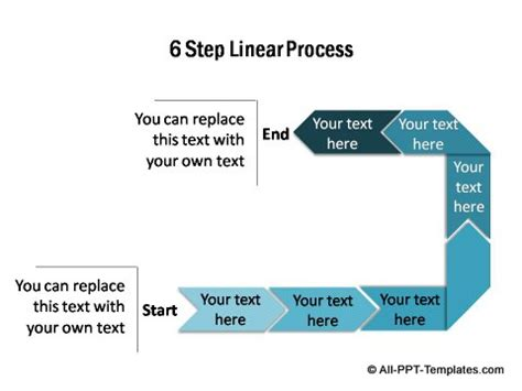 Powerpoint Linear Process Set