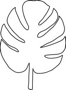 Leaf Template by Palm Leaf Template Clipart Best