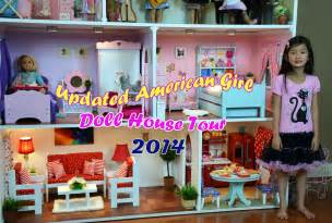 18 Inch Doll Bathroom Vanity Huge American Doll House Tour 2014 Youtube