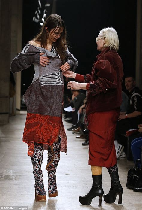 Catwalk Speak To Onoff About Fashion Week by Vivienne Westwood Rescues Catwalk Model Who Suffers