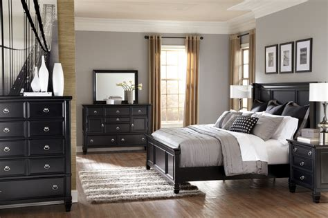 black bedroom furniture sets king ashley greensburg black 5pc king bedroom set ogle