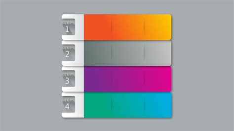 3d Bar Seven Square Intro Title Box Chart Powerpoint Squares Powerpoint Template 2
