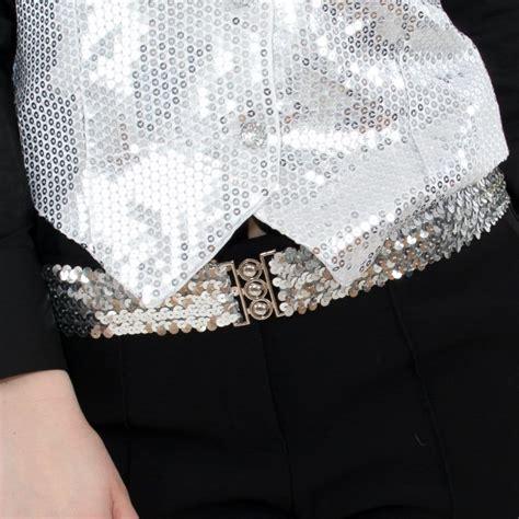 silver sequin belt hen superstore