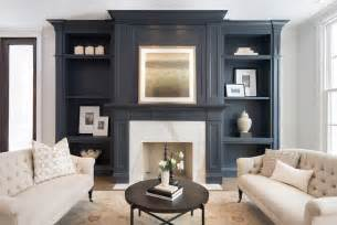 Living Room Fireplace Built Ins Gray Living Room Built Ins Transitional Living Room