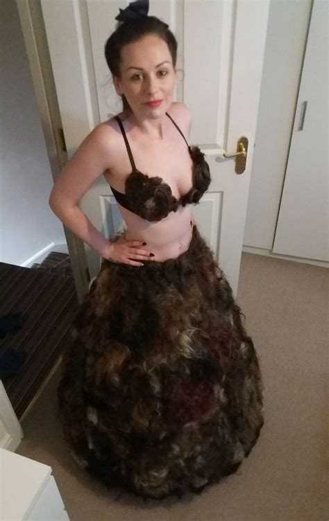 pubic hair that is dredded mum makes bizarre pubic hair dress after dozens send her