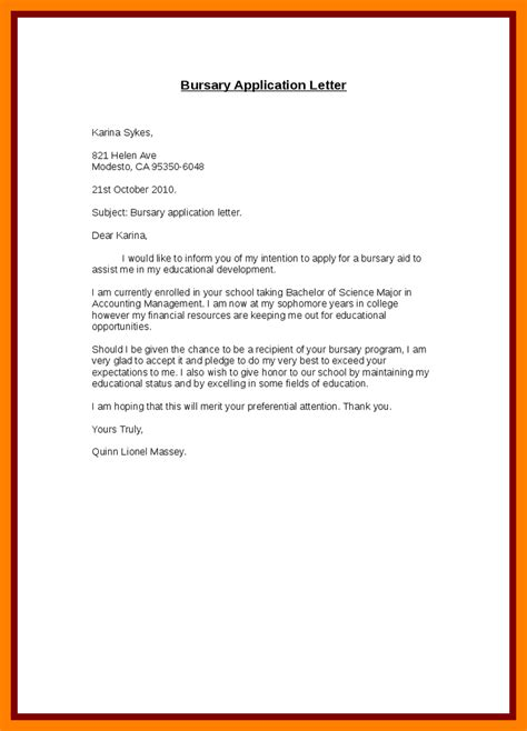 cover letter motivation letter 5 exle of motivation letter for bursary emt resume