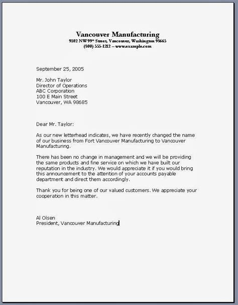 format for formal business letter formal business letter format business letter format