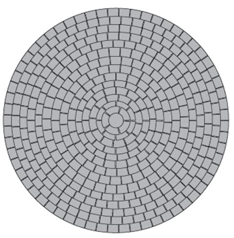 radial pattern in photoshop document moved