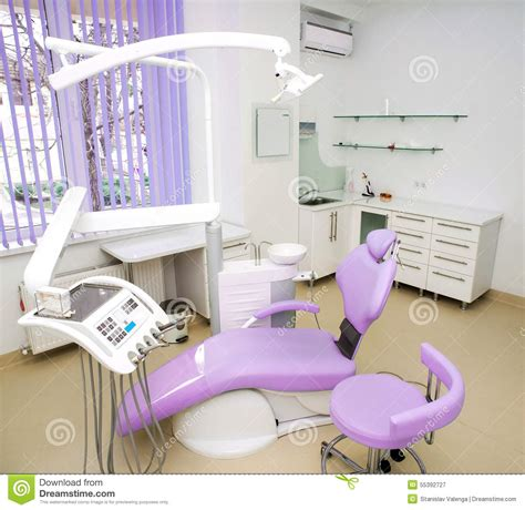 tools for interior design dental clinic interior design with chair and tools stock