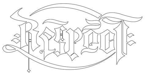 tattoo lettering ambigram design respect loyalty ambigram by raixhell on deviantart