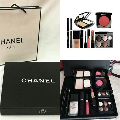Harga Bedak Chanel chanel make up set 9 in 1 purple borong kosmetik