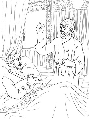 king hezekiah and isaiah coloring page super coloring