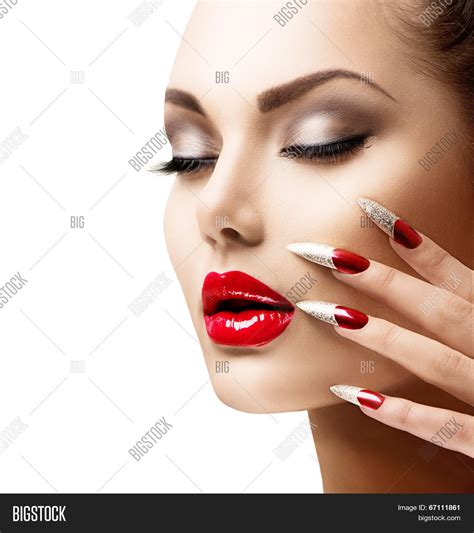 Nail Modele by Fashion Model Manicure Image Photo Bigstock